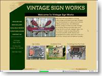 Original Vitage Signs & Furniture